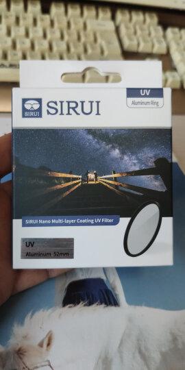 思锐(SIRUI)UV镜 滤镜 58mm 佳能尼康索尼单反镜头MC超薄多层镀膜UV镜 保护镜 晒单图