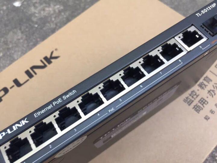 TP-LINK SG1210P 8口千兆POE交换机 1千兆口+1千兆光纤口 晒单图