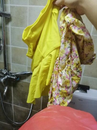 鼠爱爱 泳衣女士新款分体游泳衣裙式三件套保守聚拢显瘦温泉泳装 5139黄色 M 晒单图