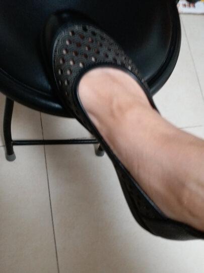 乐雅琦 夏镂空中老年凉鞋妈妈鞋真皮大码女鞋41-43平跟平底老人鞋子皮鞋x4b128 棕色 34/脚瘦建议购买小一码 晒单图