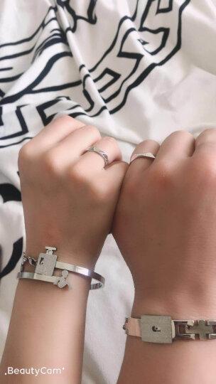 物有物语 情侣手链一对男女钛钢同心锁学生创意520情人节礼物复古手镯 男手链+女手镯 晒单图