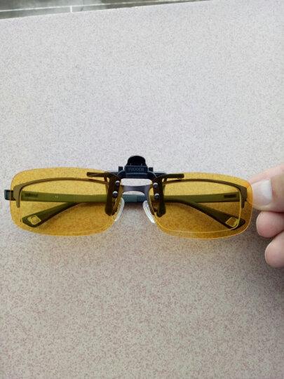 威古氏(VEGOOS)太阳镜夹片男女款防辐射近视眼镜夹片墨镜偏光夜视开车30系列夹片 3027 黄色夜视片中号 晒单图