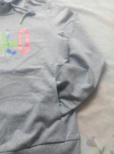 贵人鸟装新款女装潮韩版情侣学生舒适套头字母连帽卫衣上衣4468006 -5黑色 2XL 晒单图