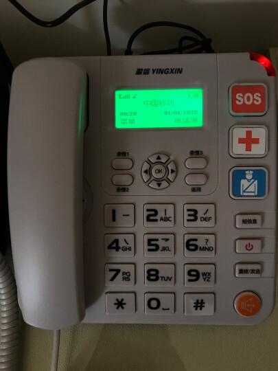 盈信(YINGXIN)盈信6型 无线电话 无线座机 插卡电话机座机 移动固话手机SIM卡 大音量 老人电话(白色) 晒单图
