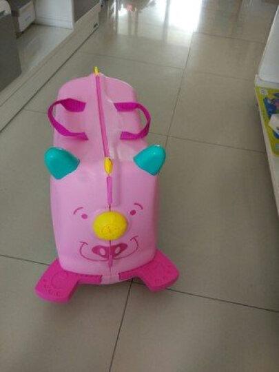 KO SHENG 儿童骑行旅行箱行李箱收纳箱 拖拉玩具学步车可骑坐登机箱包 10030拉拉 玫红色 晒单图