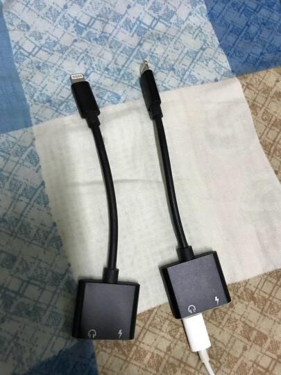 【次日达】FO苹果iPhone耳机转接头苹果XSR/8/7/6plus充电二合一音频转换器吃鸡转接口 【充电听歌通话直播】双Lightning头黑色 晒单图
