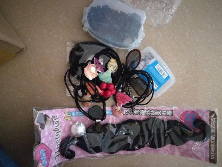 韩版黑色一字夹套装发夹小黑夹子钢铁夹刘海边夹发卡头发饰 盒装波浪小号5cm 约30根 晒单图