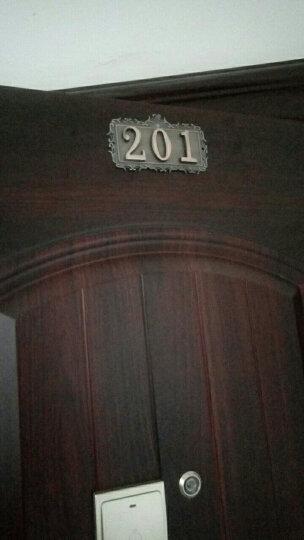 金属门牌号码 酒店宾馆房间门牌定制 小区别墅金属数字门牌号 古铜色-3位数(数字可更改) 晒单图