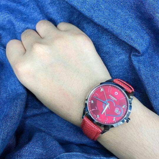 卡斯曼/CASIMA女士手表 时尚休闲百搭防水石英表 简约女表 2606-RL18皮带红色/白面 晒单图