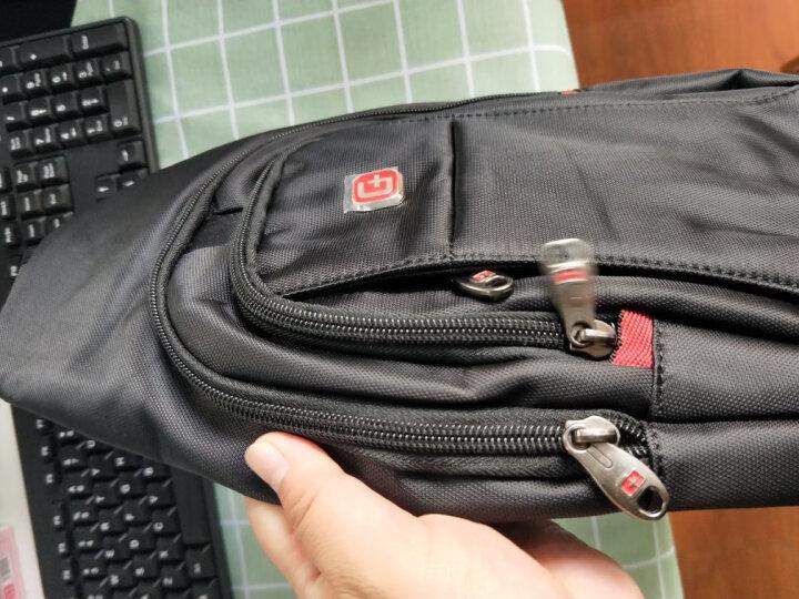 SWISSGEAR胸包 男士商务单肩斜挎包旅行休闲男小包9.7英寸iPad 时尚防泼水运动背腰包SA-9393IIImini黑色 晒单图