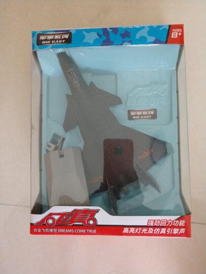 彩珀战斗机航天飞机轰炸机歼十二十回力声音灯光合金飞机模型玩具车 A380(升级版) 红色 晒单图