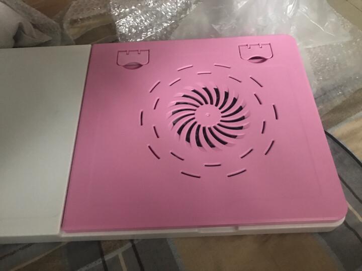 佳家达 大号多功能床上用笔记本电脑桌 懒人桌 折叠学习桌 带风扇散热器 床上电脑桌 黑白带散热器 晒单图