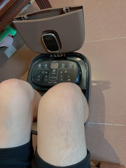 足浴盆全自动按摩泡脚盆深桶洗脚盆足疗器足疗盆加热泡脚桶 金色电动版 晒单图