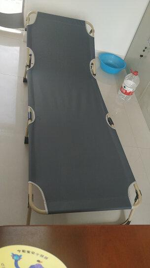 凯速 午休午睡折叠床  办公室躺椅 单人陪护床 沙滩椅 户外折叠椅 (双方管52cm宽+带棉垫) FC32藏青色 晒单图