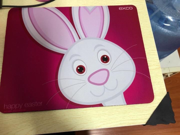 宜适酷(EXCO)欢乐兔可爱卡通动漫鼠标垫 大号  加厚创意游戏垫  WMSP-012 晒单图