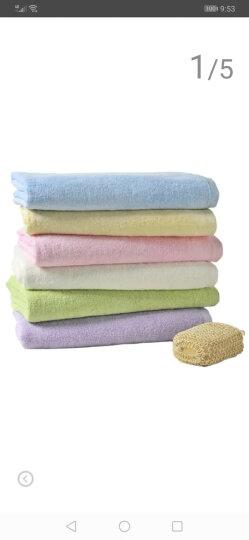 艾娜骑士 婴儿浴巾竹纤维新生儿大浴巾宝宝竹纤维澡巾 紫色100*100 晒单图