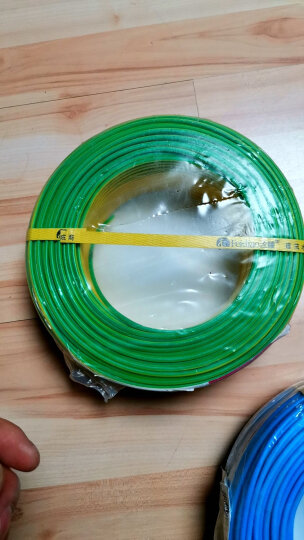 飞雕(FEIDIAO)电线电缆 BV2.5平方 国标家用铜芯电线单芯单股铜线100米 双色地线 晒单图