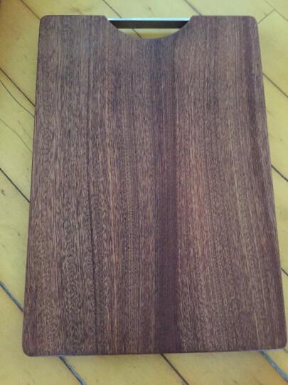 原森太 进口乌檀木实木菜板 粘板砧板 整木切菜板 厨房擀面板 加厚案板 整木40×27×2.5CM 晒单图