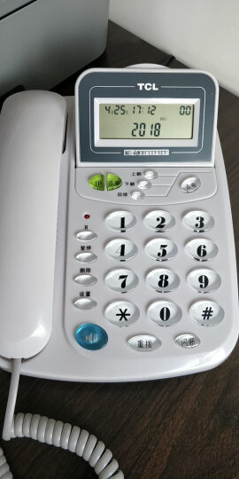 TCL 电话机座机 固定电话 办公家用 来电显示 免电池 屏幕翻盖 HCD868(17B)TSD (灰白色) 晒单图