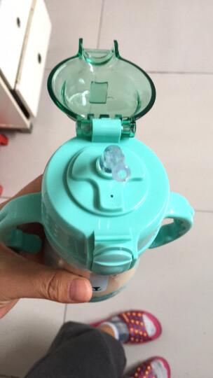 babycare儿童保温杯带吸管婴儿水杯学饮杯316不锈钢宝宝保温杯 浅嗬绿240ml 晒单图
