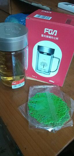 富光双层玻璃办公杯高硼硅耐热大容量牛饮水杯 过滤网茶杯便携带盖大号杯子 700B-320ml(无过滤网 颜色随机) 晒单图