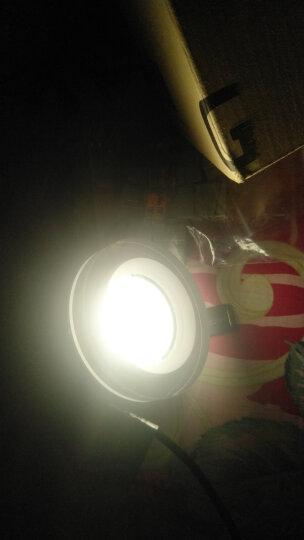 GELED/记忆点 嵌入式LED筒灯 天花灯COB小射灯 亚克力演艺系列 光玉筒灯 7W 材料防眩 标准_4K 晒单图