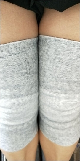 南极人(Nanjiren) 夏季护膝(一双装)高弹透气运动关节炎中老年老寒腿保暖膝盖护腿男女通用 肤色弹力尼龙款 M中码膝盖往上10cm处腿围(39-43cm) 晒单图
