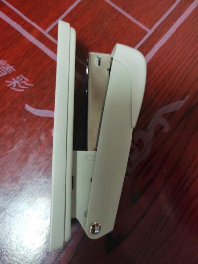 得力(deli)钢制耐用办公订书机套装(订书机+起钉器+订书钉) 适配12#钉 颜色随机0359 晒单图