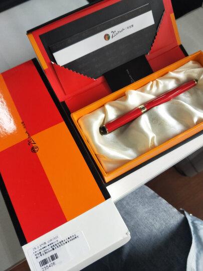 毕加索(pimio)钢笔签字笔男女士商务办公成人学生用0.5mm墨水笔世纪先锋系列908橙黄 晒单图