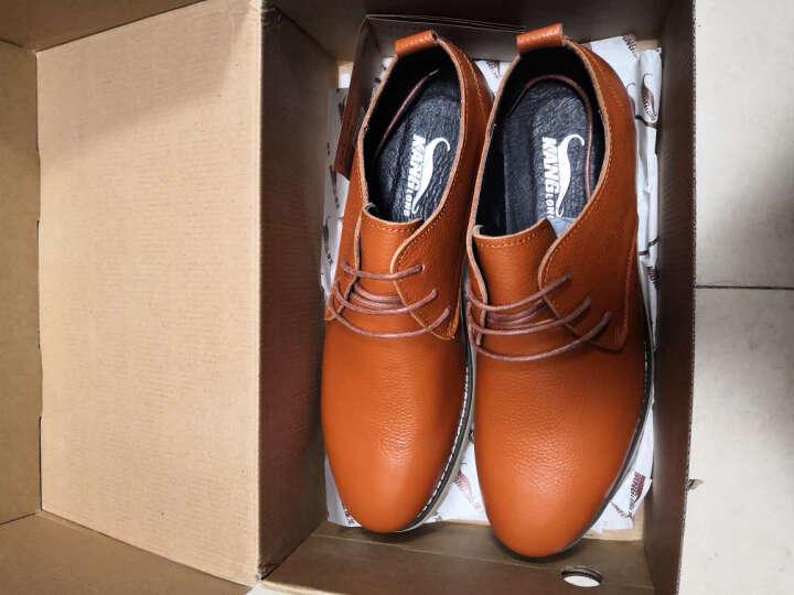 康龙男士商务休闲皮鞋 春秋真皮英伦休闲鞋 流行男鞋透气潮流男单鞋 黑色243114576 39 晒单图
