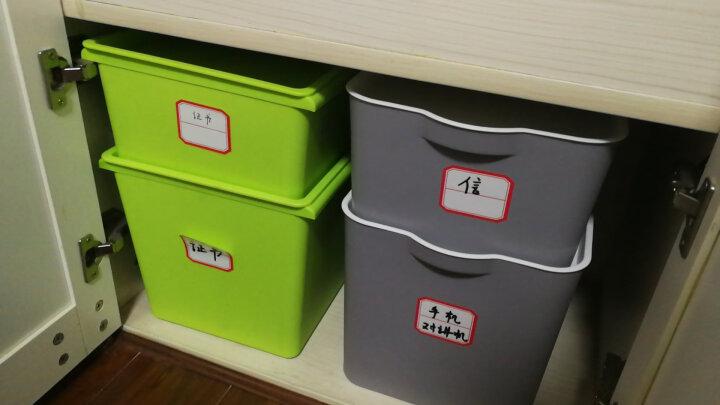 愉悦之家塑料收纳箱整理箱塑料带盖床底衣物收纳盒储物箱子 艾露莎 粉色 27L(长39宽28高25) 晒单图
