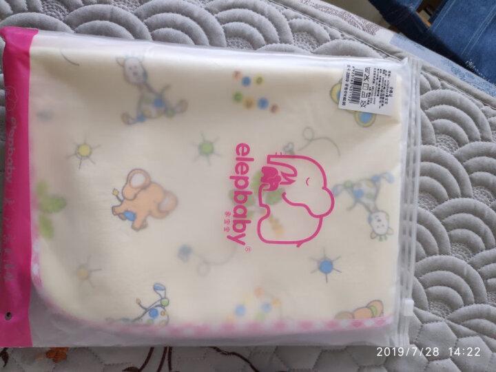 象宝宝(elepbaby)婴幼儿尿垫 竹纤维三层加厚防水隔尿垫大号100X60CM(粉色1条装) 晒单图
