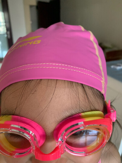 李宁 LI-NING 青少年泳镜泳帽套装 儿童游泳套装男女童游泳装备 308粉 晒单图