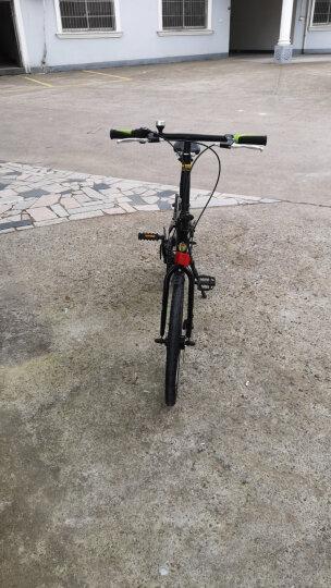 永久20寸7级禧玛诺变速折叠自行车双碟刹高刀圈台湾建大车胎男女式学生成人轻便单车 YE2017 黑绿色 晒单图