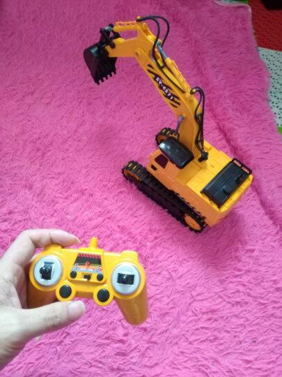 双鹰充电遥控车工程车仿真挖掘机汽车大号儿童电动玩具车 小号手柄版挖机1:26 晒单图
