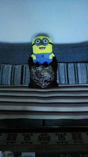 奥美斯 大眼萌公仔小黄人抱枕被子车用抱枕被 车内饰品 汽车抱被 办公室家用空调被 白色 晒单图