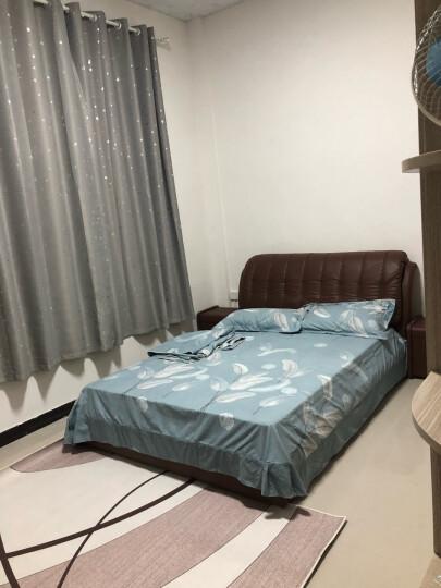 美丽契约窗帘 遮光窗帘成品田园星星定制遮光布料客厅加厚 天蓝色(打孔) 1.3米宽x1.5米高一片 晒单图