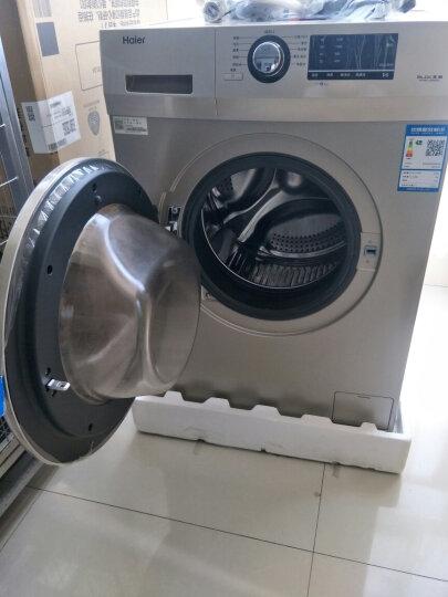 海尔(Haier)洗衣机全自动滚筒洗衣机9公斤变频家用中途加衣高温消毒洗EG9012B26G 晒单图