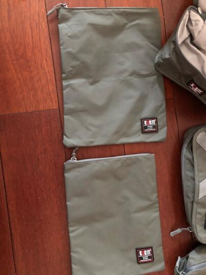 必优美/BUBM 旅行收纳袋洗漱收纳套装 旅行收纳包行李箱衣服整理收纳袋 鞋袋收纳包 QJT优雅灰 晒单图