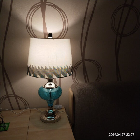 络曼(LUOMAN)礼品礼物创意定制美式落地灯客厅卧室地中海简约欧式落地台灯节日装饰 晒单图