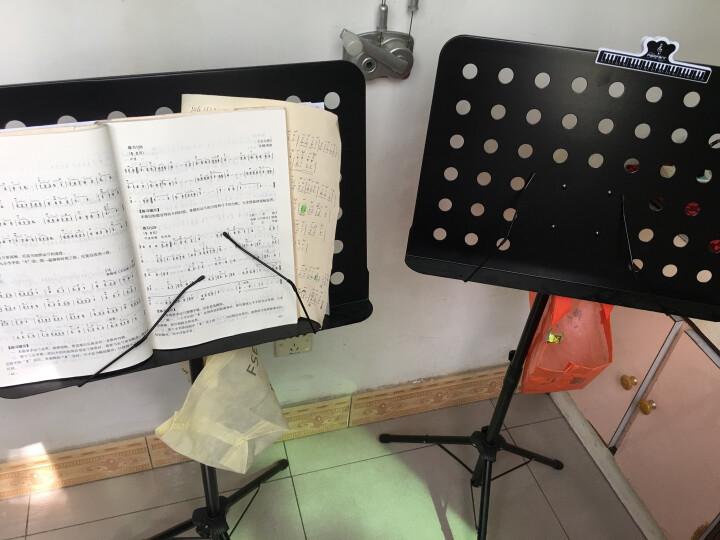 SOU 谱架谱台便携歌谱架吉他琴谱架子乐谱架小提琴谱架子古筝曲谱架子可调节高度伸缩折叠升降 黑色标准款( 带谱台包) 晒单图