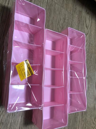 欧润哲 收纳盒 PP可叠加衣柜抽屉袜子百纳盒 粉色3只装 晒单图