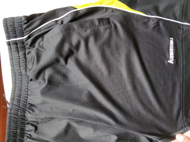 川崎KAWASAKI羽毛球服装女士新款短袖T恤运动休闲衣服圆领吸汗速干深蓝色ST-16225 XL 晒单图