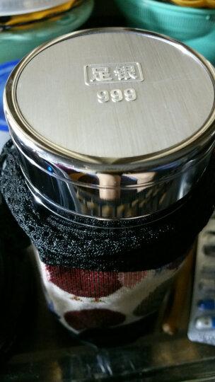 云银 银杯子茶杯999纯银内胆水杯保健保温花开富贵 竹报平安75克 晒单图