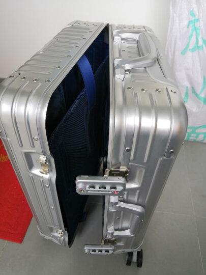 全铝镁合金金属行李箱男万向轮商务铝合金拉杆箱女男22 24 26 29寸旅行箱硬箱登机箱 黑色磨砂经典 22英寸 晒单图