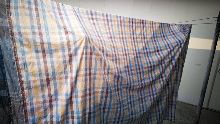 罗莱家纺 LUOLAI 全棉格子四件套 纯棉床单被套 简约格调 闲适巴拿马 1.8米床 220*250cm 晒单图
