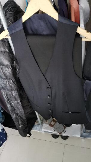 柏品 Lite 意大利REDA睿达面料羊毛修身商务男士正装马甲 黑色 50 晒单图
