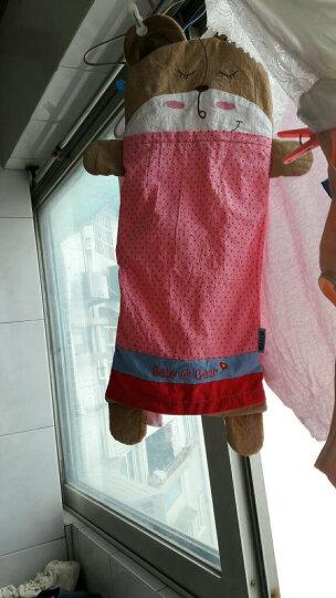 双漫卡通儿童枕套 婴儿枕头套 供换洗 胭脂粉 加长号枕套25*56 晒单图