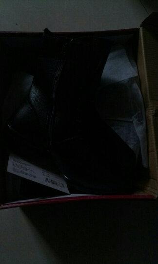 牛霸道舞蹈鞋秋冬新款女鞋真皮加绒保暖广场舞鞋 时尚跳舞短靴女8666 8666黑色单鞋 37 晒单图