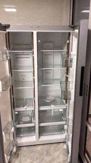 西门子(SIEMENS)610升 变频风冷对开门冰箱 黑晶竖显触摸屏 (欧若拉银)BCD-610W(KA92NE09TI) 晒单图